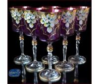 Лепка Смальта Фиолетовая набор бокалов 250мл 6 штук