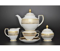 "Falken Porsellan ""Петербург Голд"" чайный сервиз на 6 персон из 15ти предметов"