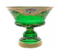 Зеленая Лепка ваза для фруктов 26см 10147
