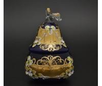 Синяя лепка ваза для конфет 24см Груша