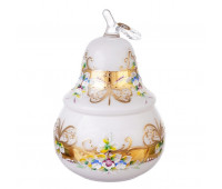 Белая Лепка ваза с крышкой груша 24см