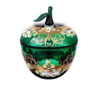 Зеленая Лепка ваза для конфет 16 см Яблоко