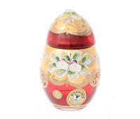 Красная Лепка ваза для конфет яйцо 10 см