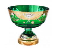 Зеленая Лепка ваза для фруктов 30 см