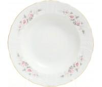 Бернадотт Роза Серая  набор тарелок 23см из 6ти штук суповые