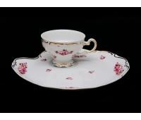 "Веймар ""101 Роза"" набор для десерта чашка и тарелка 210мл"