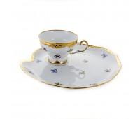 "Веймар ""1016 Мейсенский Цветок"" набор чашка и тарелка Эгоист для десерта"