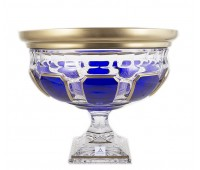 Арнштадт Антик Синяя ваза для фруктов 30см