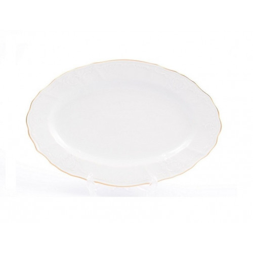 Бернадотт Белый  Блюдо овальное 26см