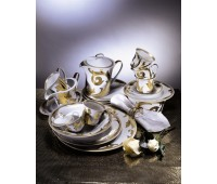"""Rosenthal Versace """"Арабески Голд"""" Чайный сервиз на 6 персон из 21 предмета"""