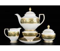 """Falken Porsellan """"Империал Грин Голд"""" сервиз чайный на 6 персон из 15ти предметов"""