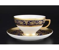 """Falken Porsellan """"Империал Кобальт Голд"""" набор чашек с блюдцами для чая 250мл 2 штук"""