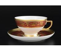 """Falken Porsellan """"Империал Бордо Голд"""" набор чайных пар из 2х штук"""