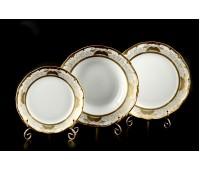 """Веймар """"Золотая Симфония 427"""" набор тарелок из 18ти штук"""
