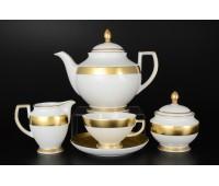 "Falken Porsellan ""Фулл Голд"" чайный сервиз на 6 персон из 15ти предметов"