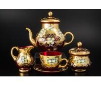 Красная Лепка E-V сервиз  чайный на 6 персон из 15ти предметов