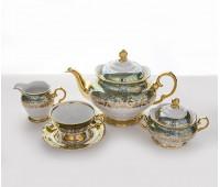 Лист Зеленый чайный сервиз на 6 персон из 15-ти предметов