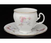 Бернадот Дикая Роза набор чашек с блюдцами для кофе 170мл 6 штук