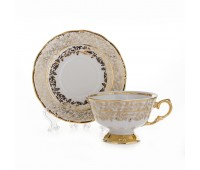 Лист Белый Карлсбад набор чайных пар 200мл 6 штук