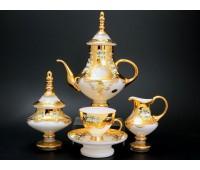 Белая Лепка сервиз чайный Аладин на 6 персон из 15ти предметов