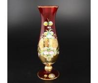 Красная Лепка ваза для цветов 24см