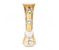 Белая Лепка ваза для цветов 22см
