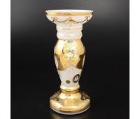 Белая Лепка ваза для цветов 25см
