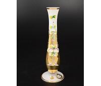 Белая Лепка ваза для цветов 18см