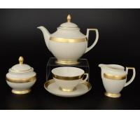 """Falken Porselan """"Крем Голд 3064"""" сервиз чайный на 6 персон 17 предметов"""