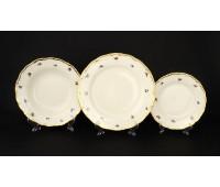 АГ 852 Мейсенский Полевой Цветок набор тарелок из 18ти штук