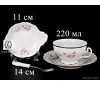 Бернадот Роза Серая Платина набор для чая 4 предмета