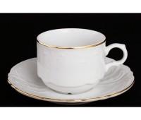 Бернадот Белый Набор 6 чашек / 6 блюдец 120мл
