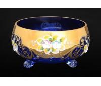 Синяя Лепка E-S ваза для конфет тройножка 15см