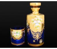 Синяя Лепка E-S штоф и 6 стаканов