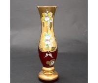 Красная Лепка ваза для цветов 20см