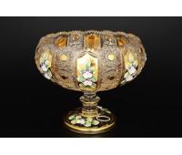 Хрусталь c Золотом Богатая ваза для конфет  20,5см
