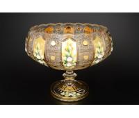 Хрусталь c Золотом Богатая ваза для фруктов 30,5см