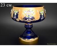 Синяя Лепка E-S ваза для конфет 23см