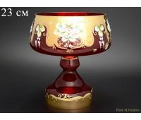 Красная Лепка ваза для конфет 23см