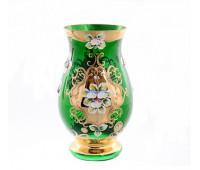 Зеленая Лепка ваза для цветов 22см 14719