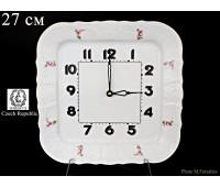 Бернадотте Полевой цветок часы настенные квадратные 26см