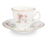 Бернадот Дикая Роза набор чашек с блюдцами для чая 200мл 6 штук