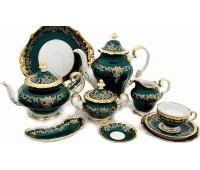 """Веймар """"Ювел Зеленый 876"""" сервиз чайный на 12 персон 55 предметов"""