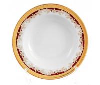 Кристина Красная набор тарелок 22см глубоких 6шт