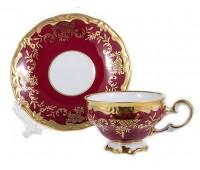 """Веймар """"Ювел Красный"""" набор для кофе Мокко 100мл на 6 персон 12 предметов"""