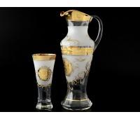 Богемия набор кувшин и 6 стаканов Испан