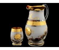 Богемия набор кувшин и 6 стаканов