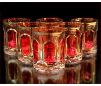 Хрусталь  Рубин набор стаканов 350мл 6штук