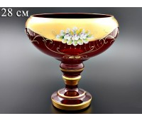 Красная Лепка ваза для фруктов 6333  28см