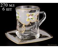 U-R Белая Лепка набор чайных пар 270мл на 6персон 12 предметов